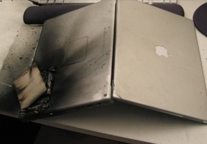 Macbook exploded