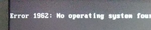 No operating system found