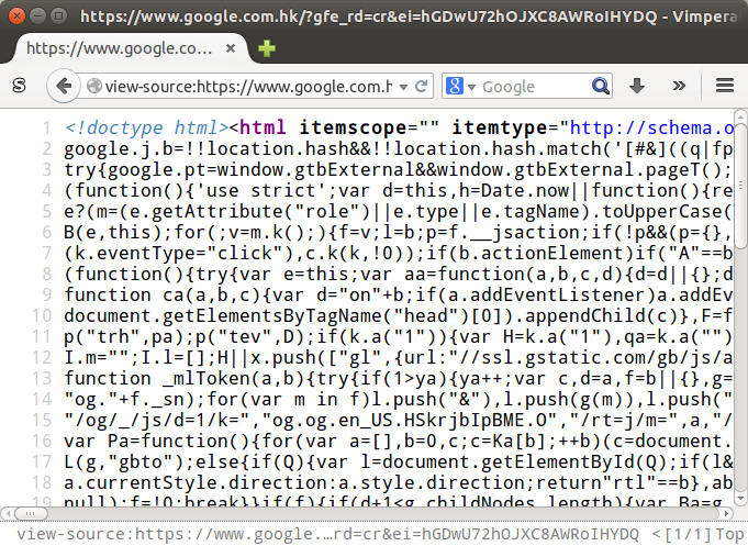 HTML source code viewed in Firefox again